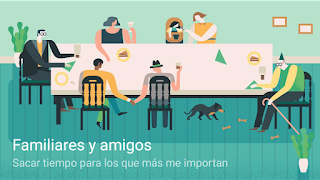 Ilustración Metas Familiares Google Calendar