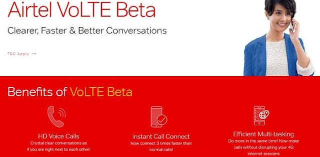 Airtel VoLTE Beta Program Avail Your Free 30 GB Today