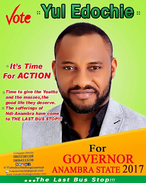 Yul Edochie contests for governorship in anambra state