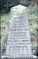 Pisacane's memorial stone in Sanza