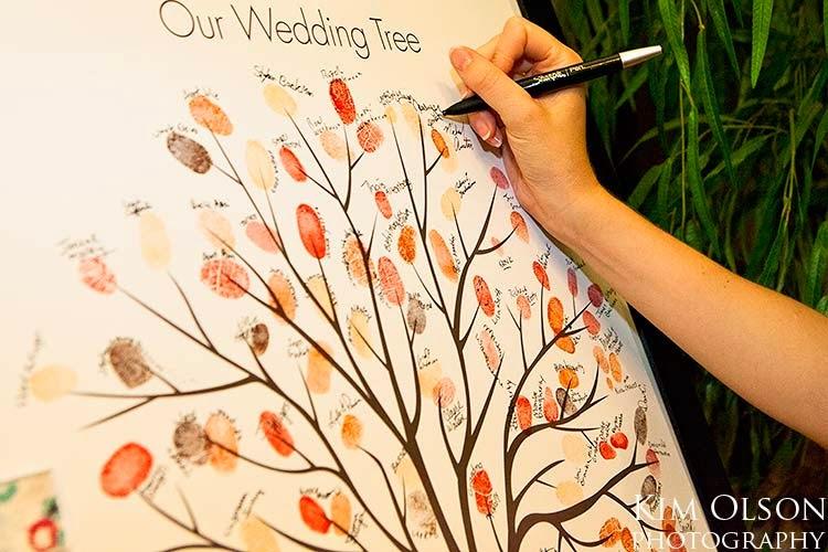 Ideias criativas casamento - arvore de digitais