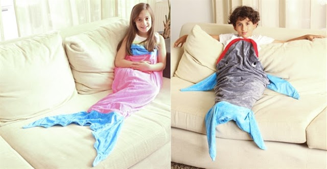 Shark or Mermaid Tail Blanket.