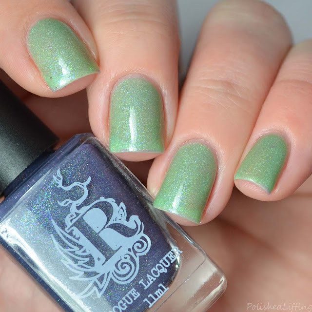 purple green turquoise thermal nail polish