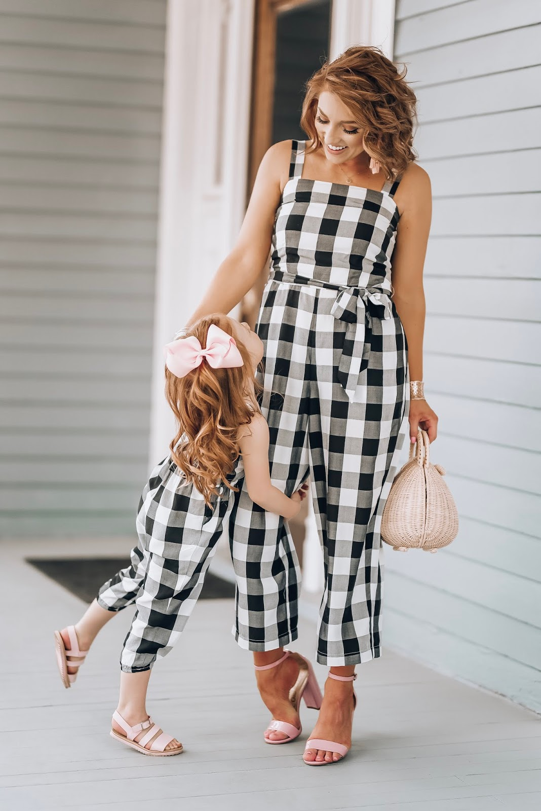 Mommy & Me Gingham Jumpsuits + What I Wish I Could Have Told Myself As a Young Mom - Something Delightful Blog