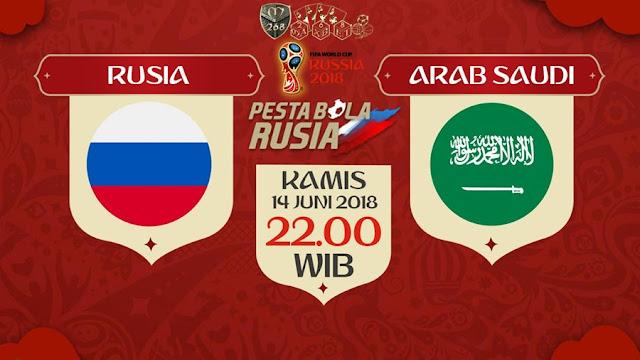Prediksi Rusia Vs Arab Saudi, Kamis 14 Juni 2018 Pukul 22.00 WIB @ Trans TV