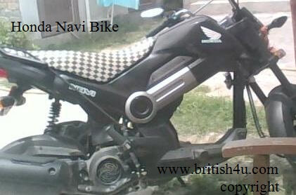 "Unique people have a unique choice"" HONDA NAVI BIKE"""