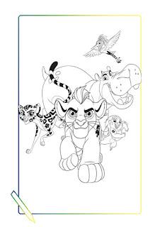 kion y sus amigos para colorear