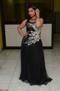 Shrisha Dasari in Sleeveless Short Black Dress At Follow Follow U Audio Launch 022.JPG