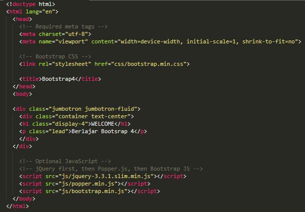 Menggunakan Bootstrap 4