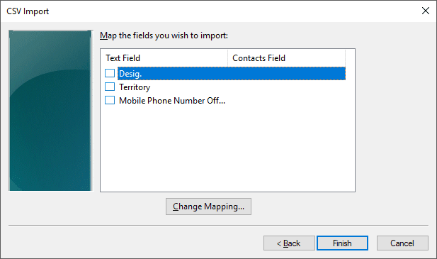 CSV Import Mapping
