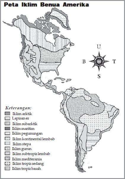Peta Iklim Benua Amerika