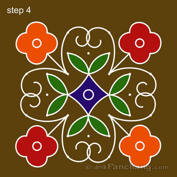 Rangoli Designs with Dots for Makar Sakranti 2017