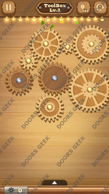 Fix it: Gear Puzzle [ToolBox] Level 2 Solution, Cheats, Walkthrough for Android, iPhone, iPad and iPod
