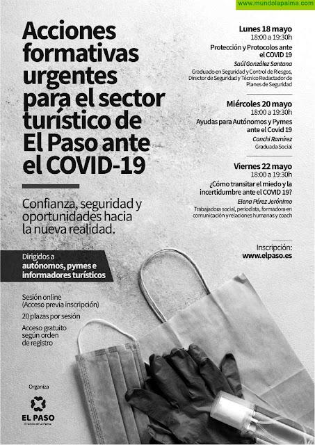 """El Ayuntamiento se El Paso convoca """"acciones formativas urgentes frente al COVID-19"""" para empresas turísticas"""