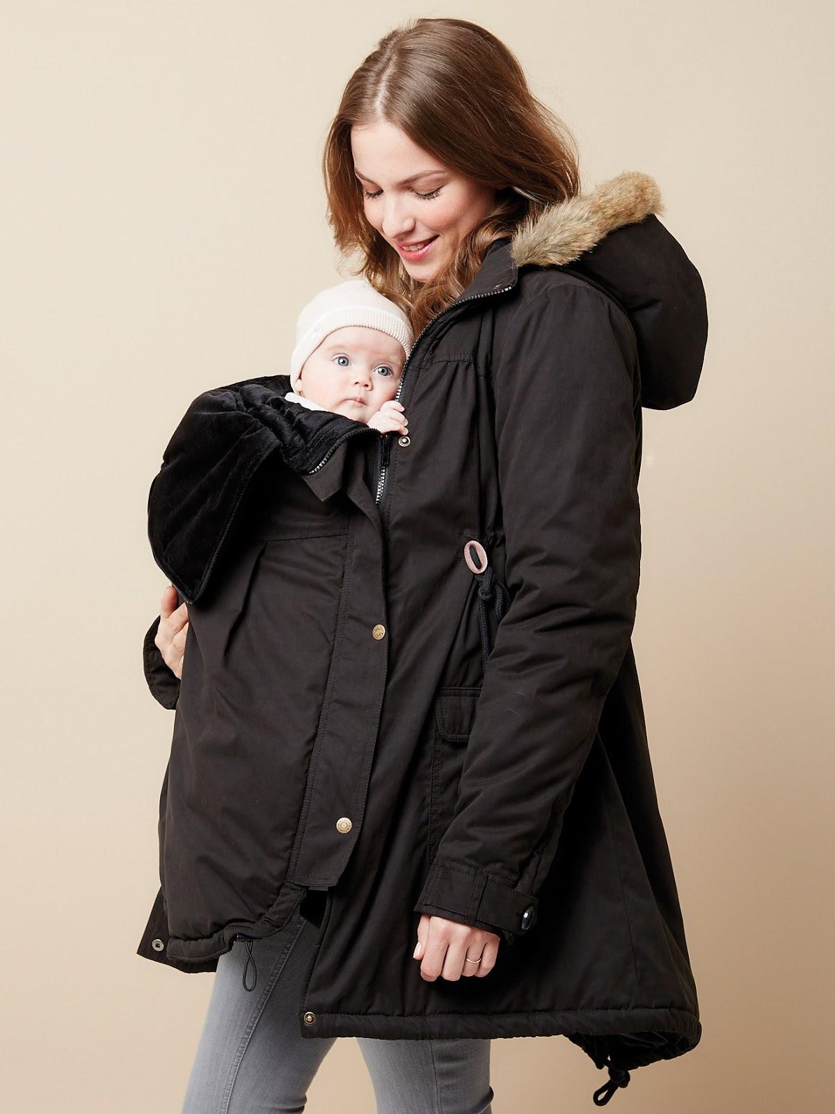 f323247fb Me decanté por este abrigo porque además me va a servir para portear