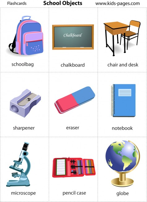 Learning English School Supplies