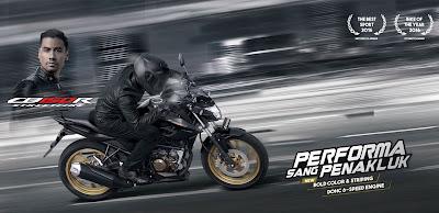 Iklan Honda CB150R Stallion Black special edition. Foto : Astra Honda Motor