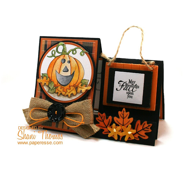 Sizzix baby dresser die used for Halloween card, by Paperesse.