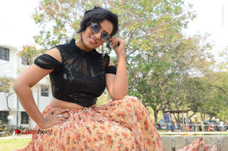 Actress Chetana Uttej Stills in Floral Long Skirt at Pichiga Nachav Movie Press Meet  0133.JPG