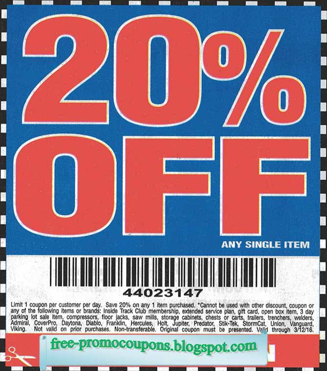 Harbor freight free coupons 2018