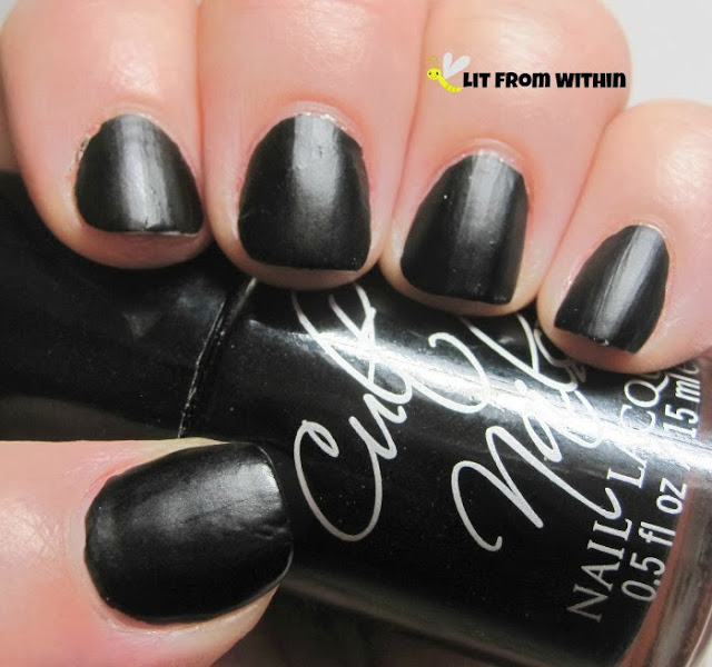 It's the gorgeous, waxy-finish 1-coat black that is Cult Nails Fetish