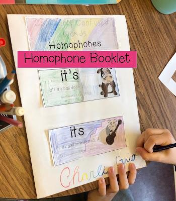Homophone activities: printables