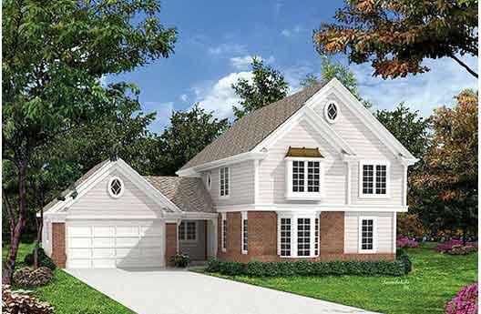 Planos Y Fachada De Casa De Dos Plantas Con 5 Dormitorios Y Garage - Fachada-de-casas-de-dos-plantas