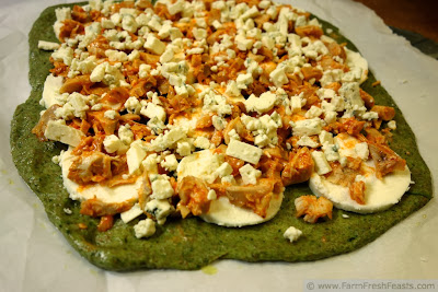 Buffalo Chicken Dip Pizza | Farm Fresh Feasts
