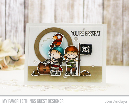 Handmade card from Joni Andaya featuring products from My Favorite Things #mftstamps