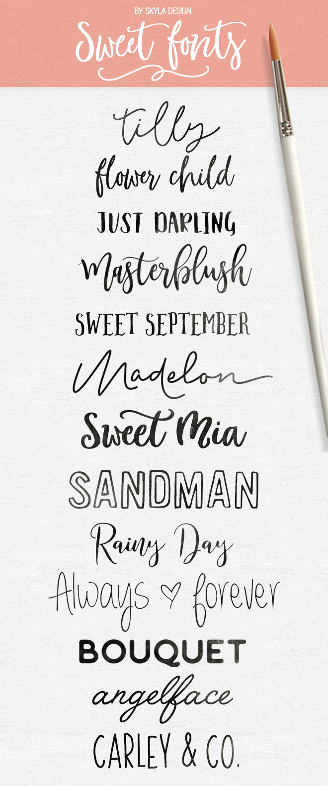 Sweet fonts skyla design