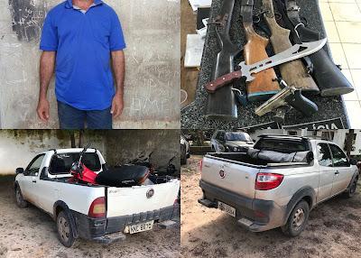 Operação Conjunta entre Polícia Militar e Polícia Civil recupera 02 veículos roubados e apreende 05 armas de fogo em Brejo