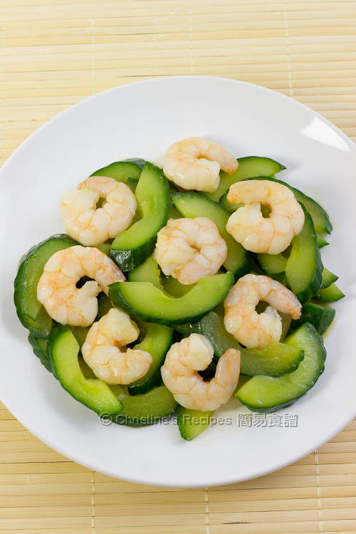 青瓜炒蝦仁  Stir-fried Cucumber with Prawns01