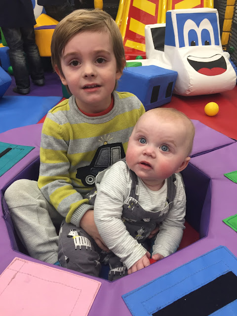 Bert and Connie B at Soft Play at the John Bunyan Sports and Fitness Centre, Bedford