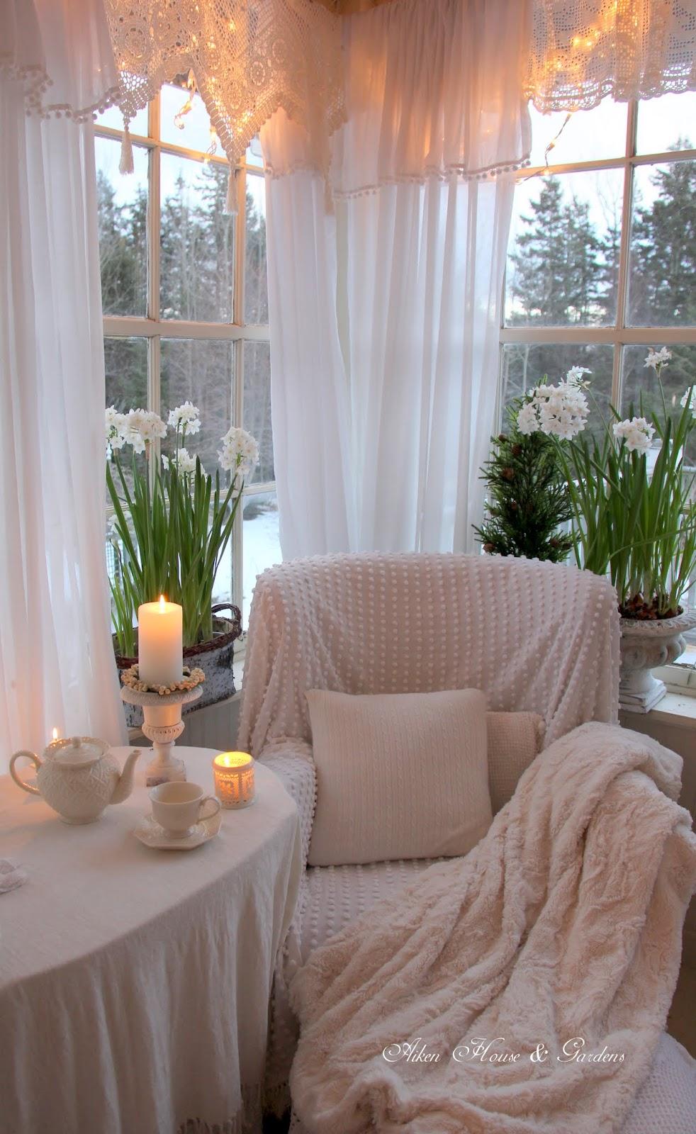 Aiken House Amp Gardens Winter White Sunroom