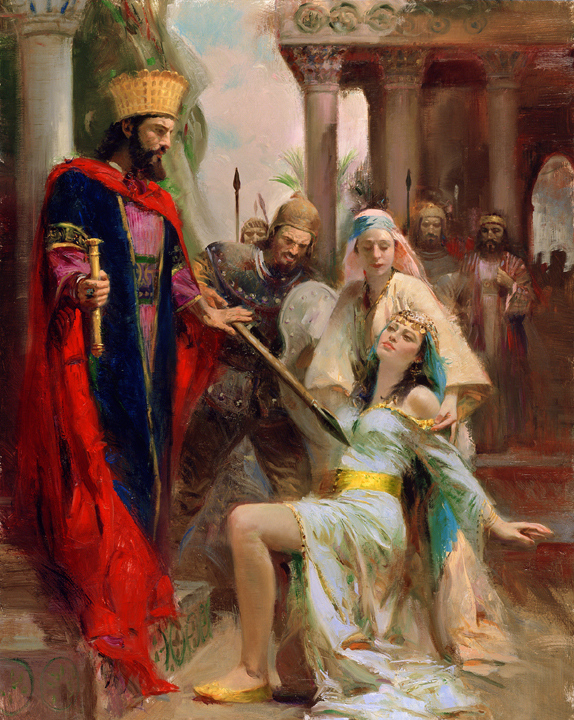 It so happened that when she entered & cried unto the King (2 Kings 8:5), he was at that very moment having a 'spiritual' chat with Gehazi, about all the things Elisha had done (2 Kings 8:4-5) & it so happened, that at that very moment, Gehazi was telling the King about how God, through Elisha, had raised this very same lady's son from the dead (2 Kings 8:5)!
