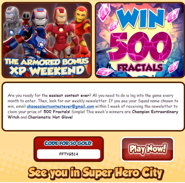 FREE GOLD CODE FOR HEROUP COM SUPERHERO SQUAD ONLINE! | employmentmoney
