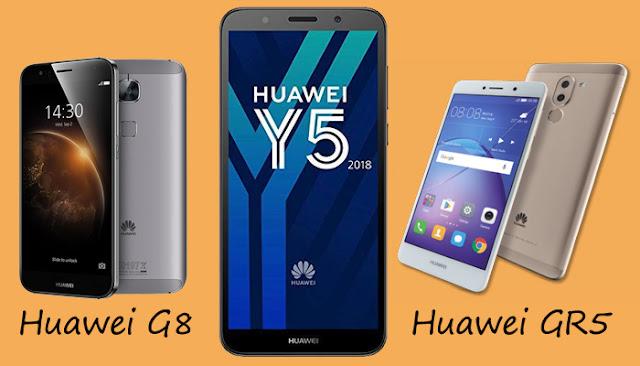 مقارنة بين huawei g8 و huawei gr5 و huawei y5
