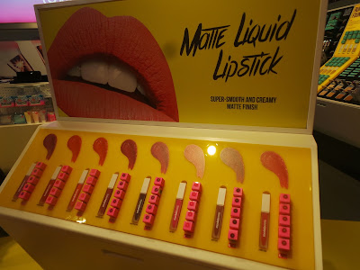 Lipstick display stand in Models Own Leeds
