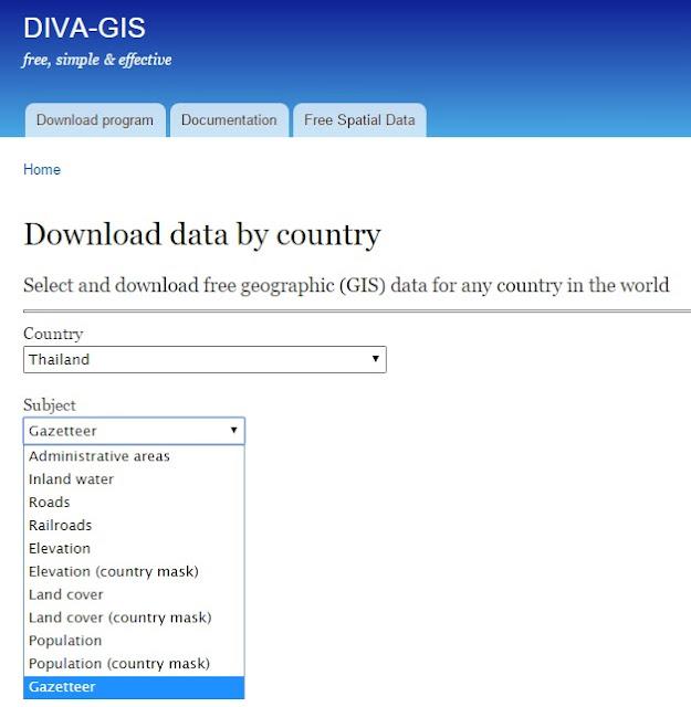 Inside geo informatics free gis data for Diva gis
