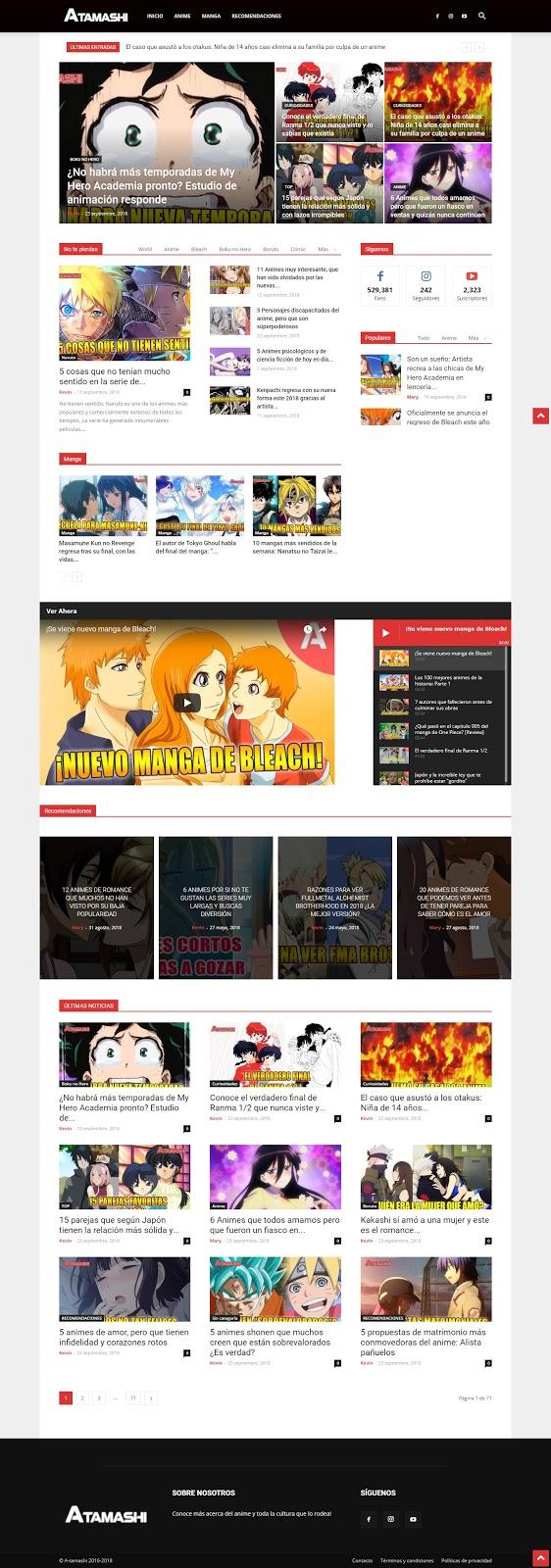 paginas con actualizades de anime Atamashi