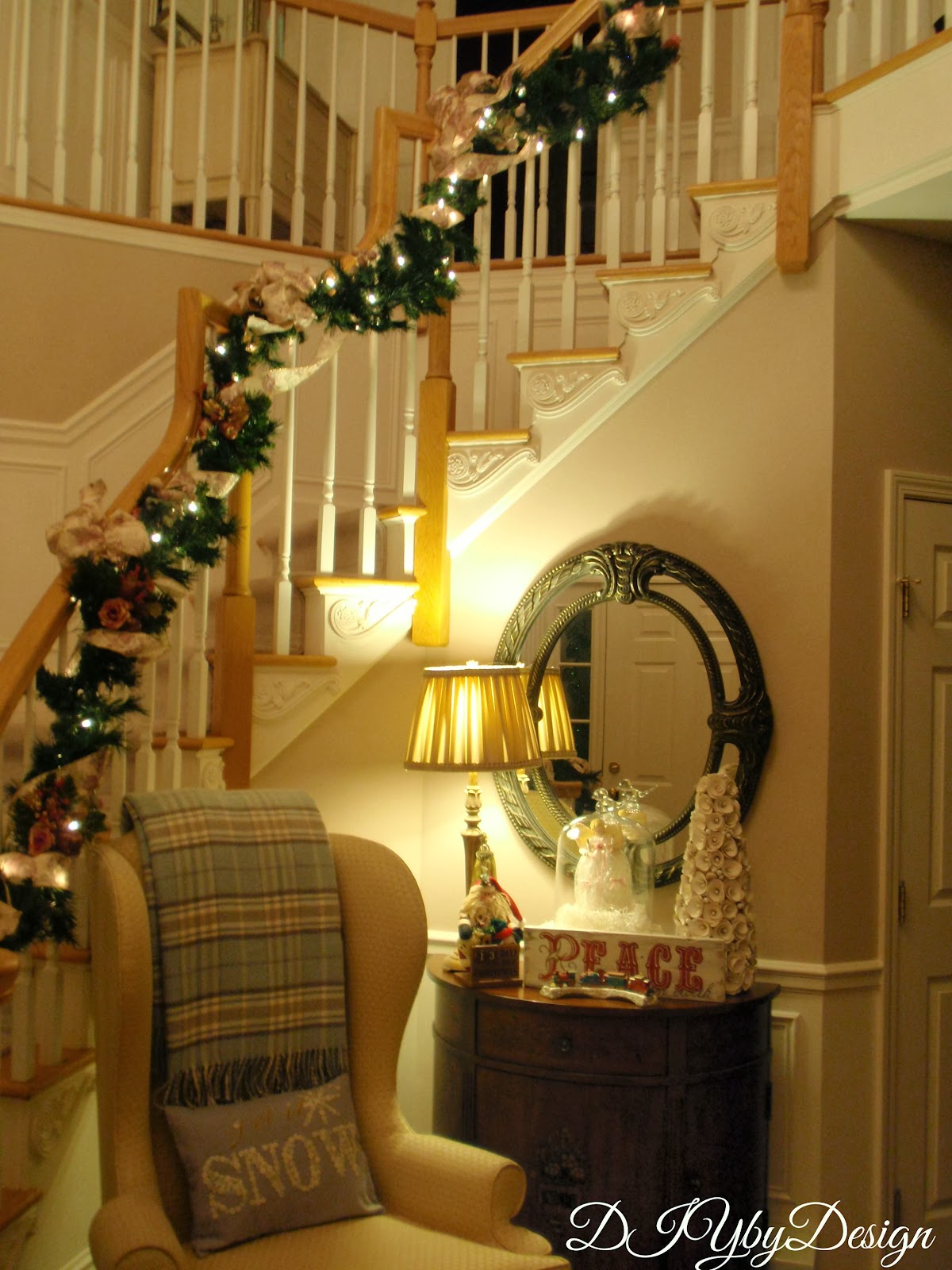 Diy By Design Christmas Tree And Staircase
