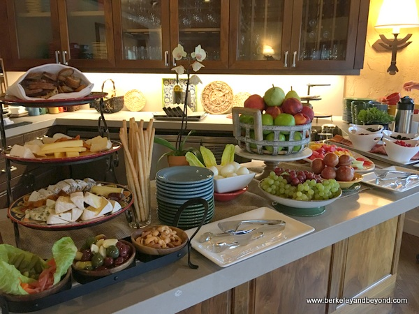 breakfast buffet at Rancho Caymus Inn in Rutherford, California