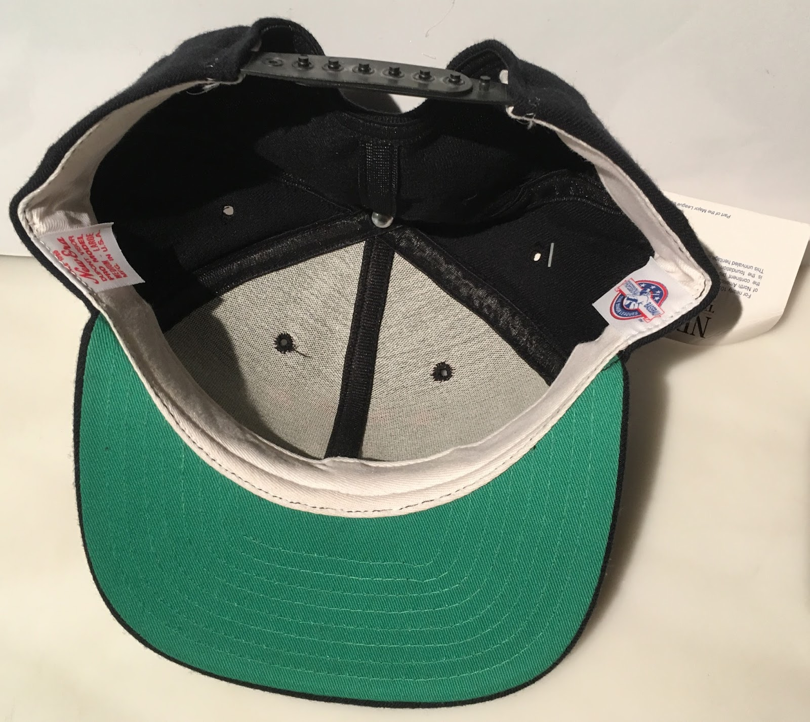 52f581b9 The Generals switched to grey underbrims in 1994, so this hat is from  somewhere between 1991 and 1993. I doubt a fitted version of this cap  exists but you ...