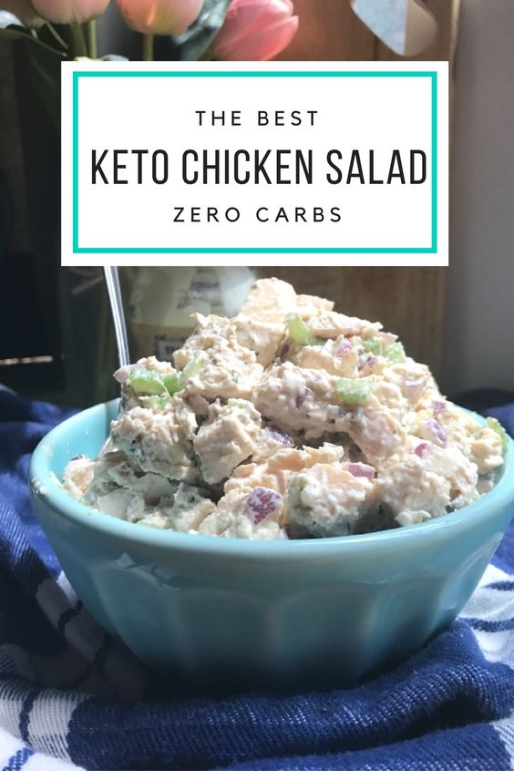 Keto Chicken Salad- Rotisserie, Canned, And Leftover Chicken Recipes