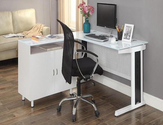 best buying modern Bush white office furniture small spaces for sale