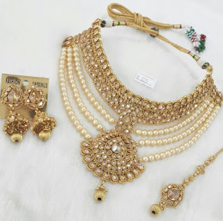 necklace sets, bridal jewelry, beautiful bridal necklace, jadaau jewelry, party wear jewelry, latest jewelry trends, trending jewelry sets, celebrity jewelry