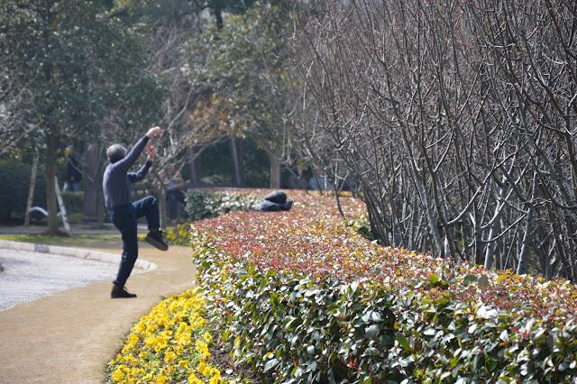 Séance de Tai Shi au jardin du peuple à Shanghai