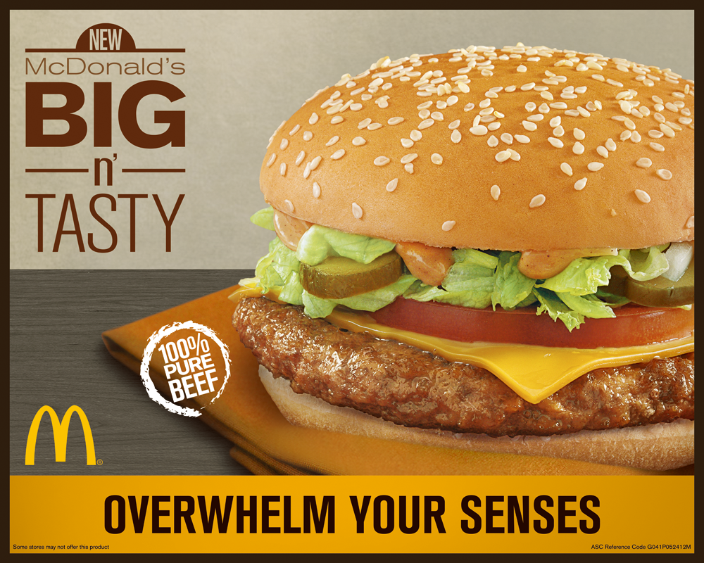 Overwhelm Your Senses With McDonald's New Big N' Tasty