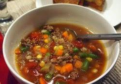 Daržovių sriuba su malta mėsa