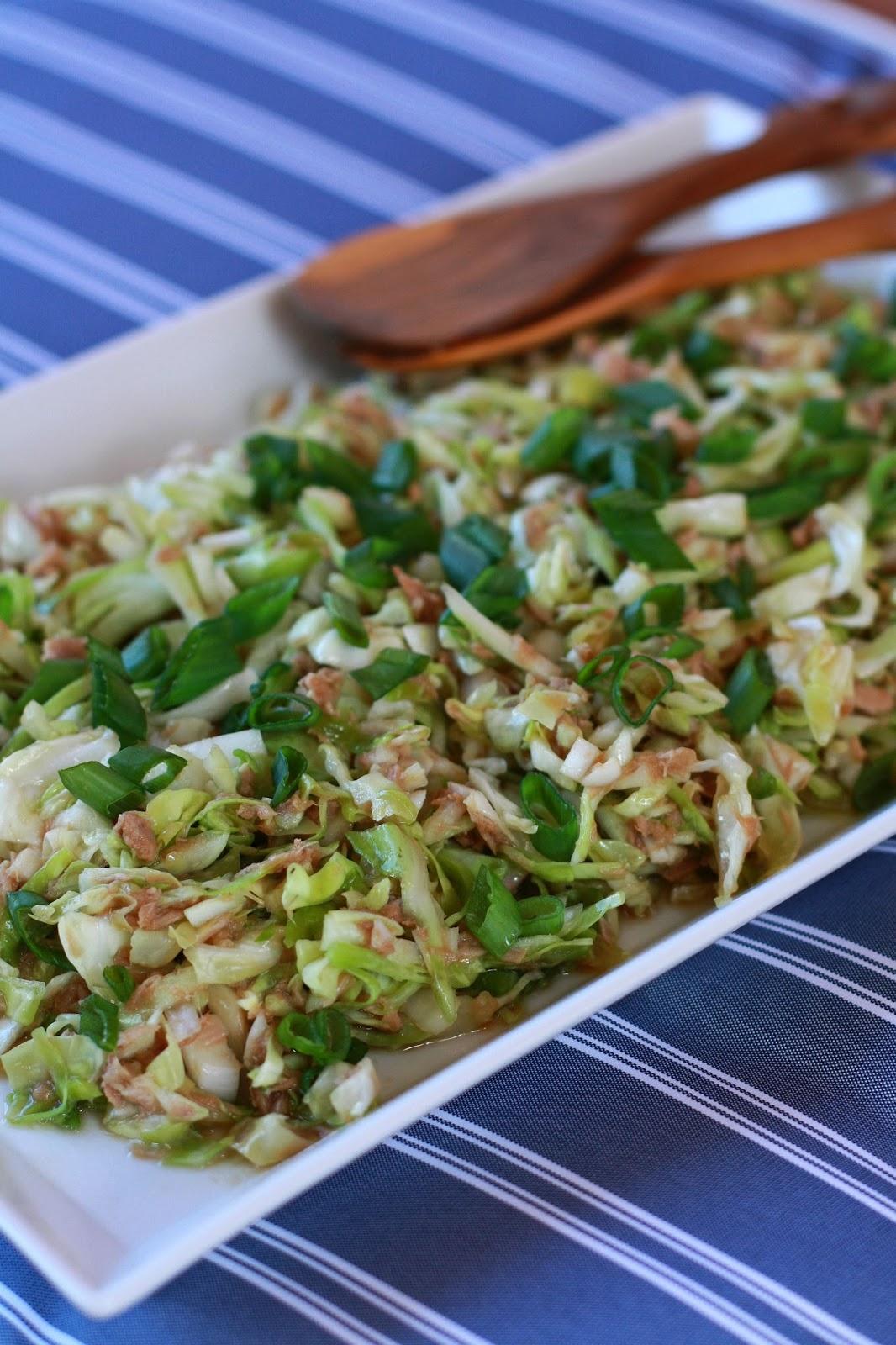 japanilainen kaali-tonnikalasalaatti japani kaali varhaiskaali tonnikala salaatti resepti mallaspulla